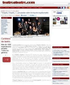 Estreno TRÁGALA, TRÁGALA - Teatro Español (Madrid). @LuisMottola @TeatroEspanol @Yllana_p @iramirezdeharo @ronlala
