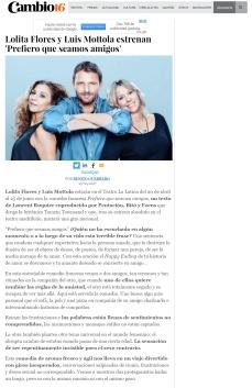 #estreno #PrefieroQueSeamosAmigos Cambio16 #Madrid @LuisMottola @Sarandonga55 @TeatroLaLatina @_pentacion_
