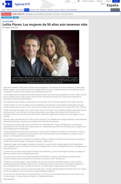 #estreno #PrefieroQueSeamosAmigos EFE.com #Madrid @LuisMottola @Sarandonga55 @TeatroLaLatina @_pentacion_