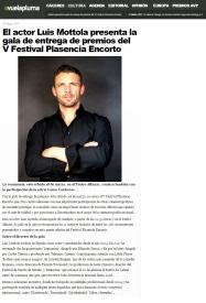 @LuisMottola presentador de la V Edición del Festival Plasencia Encorto @Encorto_24 (18/03/2017) avuelapluma.es