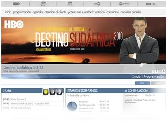 Sitio oficial Destino: Sudáfrica 2014. Presentado por Luis Mottola.