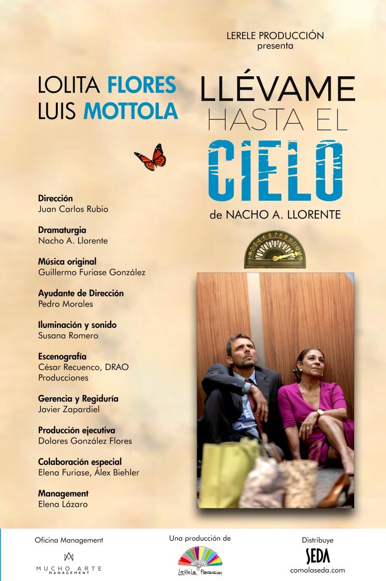 TEATRO LLEVAME HASTA EL CIELO LOLITA FLORES LUIS MOTOLA GIRA 2021